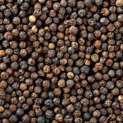 background of peppercorns